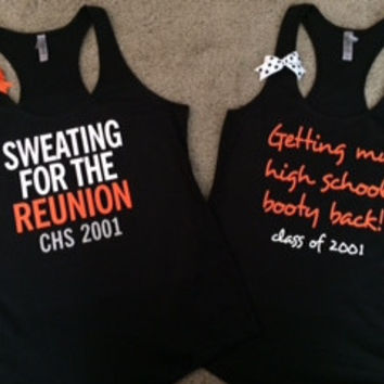 CHS - Cal High Reunion Tanks - Racerback Tank  - Fitness Tank - Gym Tank - Workout Tank - Workout Clothes