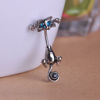 Cat Navel Rings Belly Button Piercing Jewelry - 316L Surgical Steel