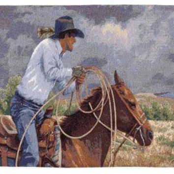 Wall Tapestry - Cowboy Theme