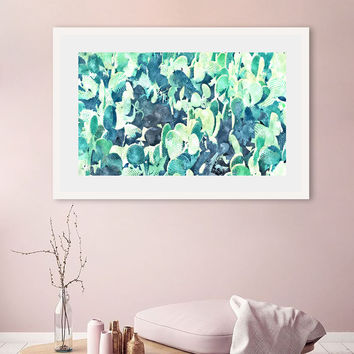 Watercolor Cactus ||| #society6 #decor #buyart by 83 Oranges™
