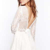 For Love & Lemons Lolo Lace Dress in White