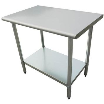 "Stainless Steel Work Prep Table 30"" x 60"" with Undershelf"