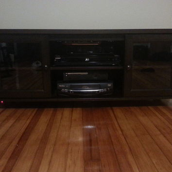Living Room Brown Wood Baxton TV Stand/Center