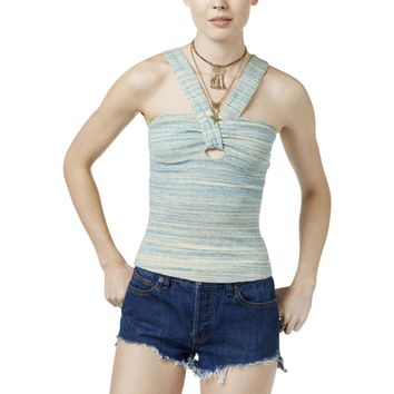 Free People Womens Beach Cruiser Keyhole Space Dye Halter Top
