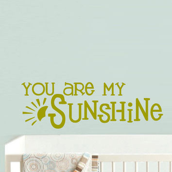 Wall Vinyl Sticker Decals Decor Art Bedroom Design Mural Words Sign Quote You Sunshine Sun Nursery Kids Baby (z900)