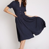 Calling You Pleated Shirt Dress | Ruche