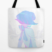 running to the sea Tote Bag by Flowersilk