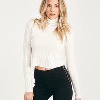 Cropped Turtleneck Sweater   Wet Seal