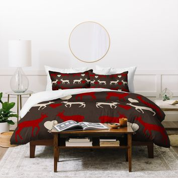 Natt Red Love Duvet Cover