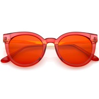 Retro 1950's Festival Colorful Pantone Translucent Sunglasses C226