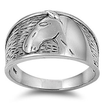 925 Sterling Silver Horse With No Name Ring