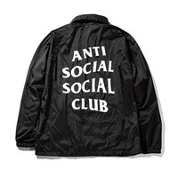 Anti Social Social Club ASSC Coaches Windbreaker Light Jacket Black