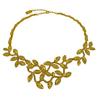 Sculpted Leaves Statement Necklace