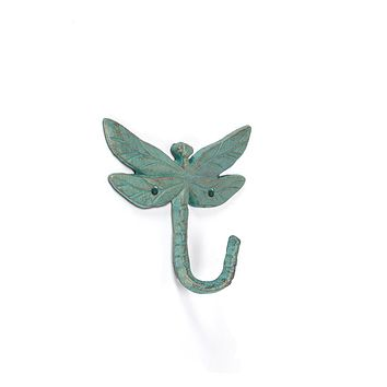 Dragonfly Wall Hook | Verdigris