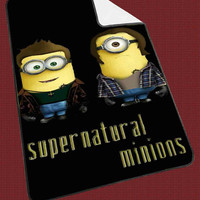 "Supernatural minion qoutes 5c948e2b-0e67-4652-8b6f-ef41df6704d2 Kids Blanket Game Blanket All Character Popular Game, Cute and Awesome Blanket for your bedding, Blanket fleece ""NP"""