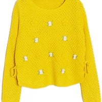 Dainty Floral Knit Sweater - OASAP.com