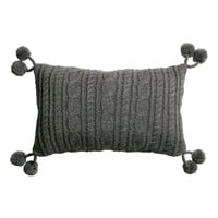 H&M - Cable-knit Cushion Cover - Dark gray