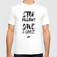 stop pillows T-shirt by Emilia Jesenska