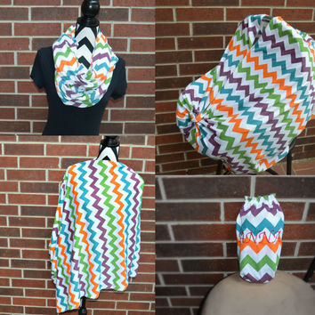3-1 Full Coverage Unique Nursing Cover and Scarf by Angelivy Designs