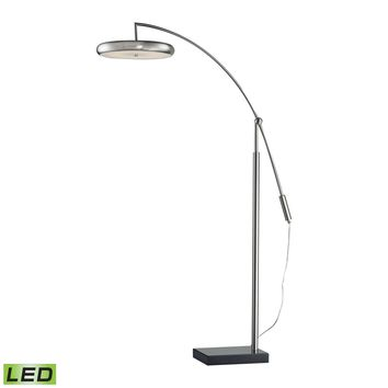 Led Arc Floor Lamp Brushed Steel