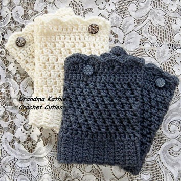 Boot Cuffs with Buttons. Knee Warmers. Boot Toppers. Choice of Color. Made to Order