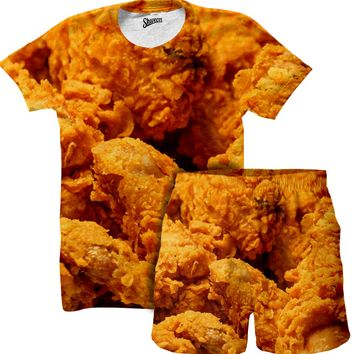 Chicken Fried Shirt and Shorts Combo