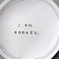 i am enough dish by mbartstudios on Etsy