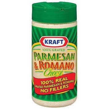 Kraft 100% Grated Parmesan & Romano Cheese 8 oz