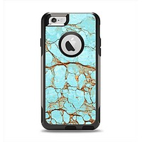 The Cracked Teal Stone Apple iPhone 6 Otterbox Commuter Case Skin Set