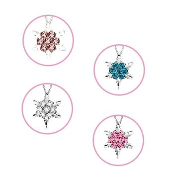 Charming Jewelry Natural Temperament Snowflake Shaped Pendant Necklace