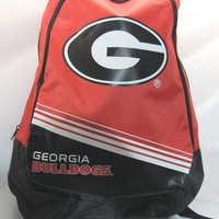 NCAA NWT STRIPE CORE ADULT BACKPACK - GEORGIA BULLDOGS