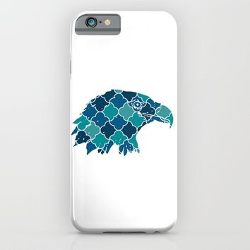 EAGLE SILHOUETTE HEAD WITH PATTERN iPhone & iPod Case by deificus Art