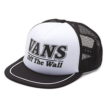 Vans Off The Wall Men's Fitzhugh Snapback Trucker Hat Cap - Black/White