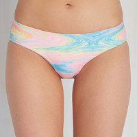On a Tide Note Swimsuit Bottom in Psychedelic - Lo-Rise | Mod Retro Vintage Bathing Suits | ModCloth.com