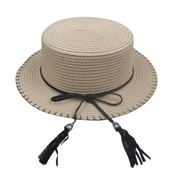 Elegant Ladies Sun Caps Summer Straw Hat Boater Hat Women's Bow Summer Hats For Women Beach Panama Hat Chapeau Paille Femme 2017