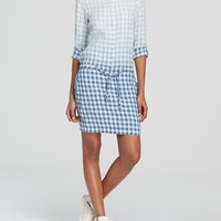 DKNY Ombré Check Shirt Dress - Bloomingdale's Exclusive