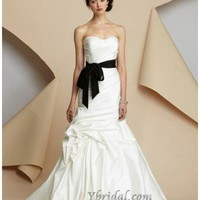 Sheath Strapless Chapel Train Taffeta Wedding Dress WSC06264 - 2012 Wedding Spring Collection - Wedding Dresses