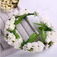 Floral Flower Crown Garland wedding bridal girls  wreath for women head tiara hh5014