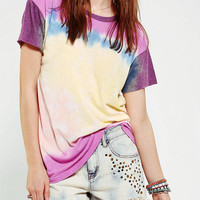 Urban Outfitters - Truly Madly Deeply Colorblock Tie-Dye Tee