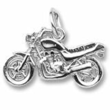 Motorcycle Charm In Sterling Silver