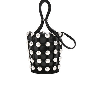 Alexander Wang Roxy Dome Stud Mini Bucket Bag in Black | FWRD