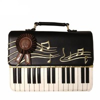 Leather Piano Keys Crossbody bag