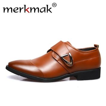 Merkmak Big Size 48 Men Loafers Leather Shoes Men's Flats Moccasins Footwear Wedding Party Office Loafers Casual Shoes Comfort
