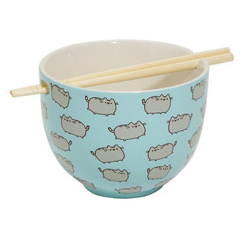 Pusheen Blue Ramen Bowl Set