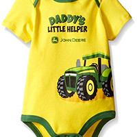 John Deere Baby Daddy's Little Helper Bodyshirt, Yellow/Green, 6-9 Months