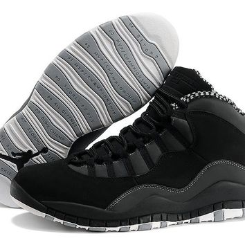 [Free Shipping]Nike Air Jordan X 10 Retro Black Basketball Sneaker