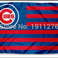 Free shipping Chicago Cubs Flag MLB Major League Baseball 3ft x 5ft Polyester Banner Flying 150* 90cm Custom flag sport helmet