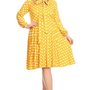 Curvy Polka Dot Fit & Flare Dress
