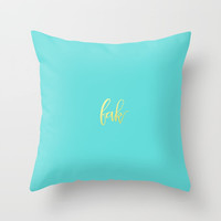 yeah Throw Pillow by Printapix
