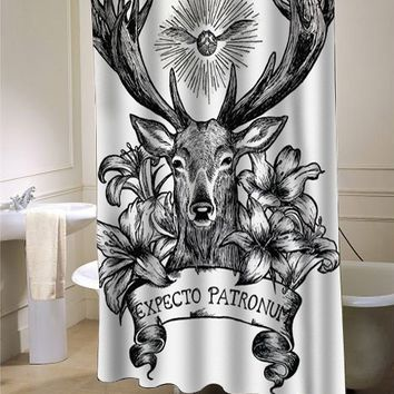 Expecto Patronum Harry Potter curtain - myshowercurtains